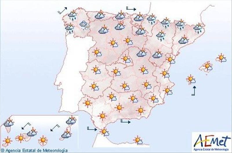 Bajan las temperaturas en el noroeste y viento fuerte en Galicia