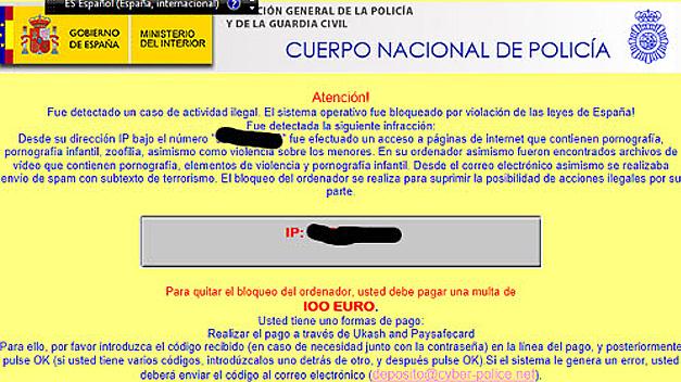 La Policía avisa de una estafa en Internet que simula una multa por descargar porno