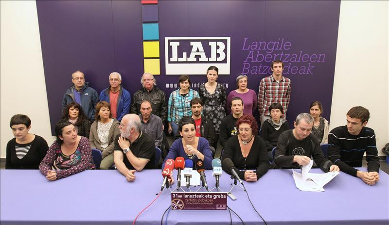 ELA y LAB convocan huelga general el 26 de septiembre en Euskadi y Navarra