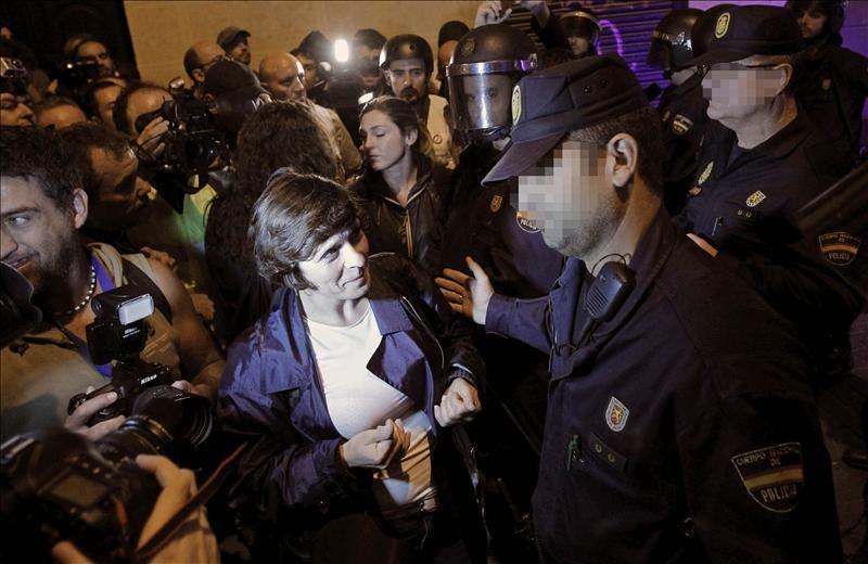 Abren un expediente sancionador a 50 convocantes de la protesta de ayer ante el Congreso