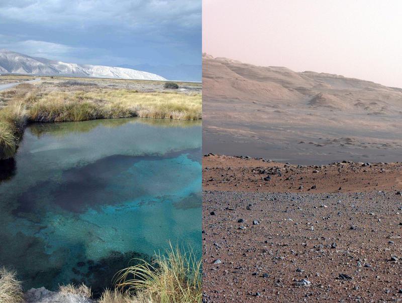 Las Cuatro Ciénagas de México tienen un suelo como el que pisa el Curiosity en Marte