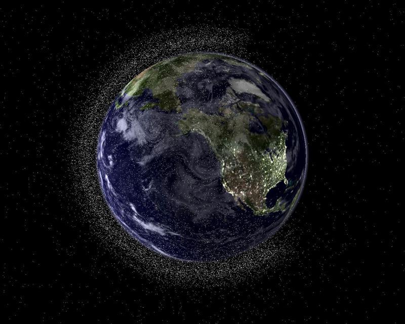 Una nube de basura espacial amenaza a la Estación Espacial Internacional