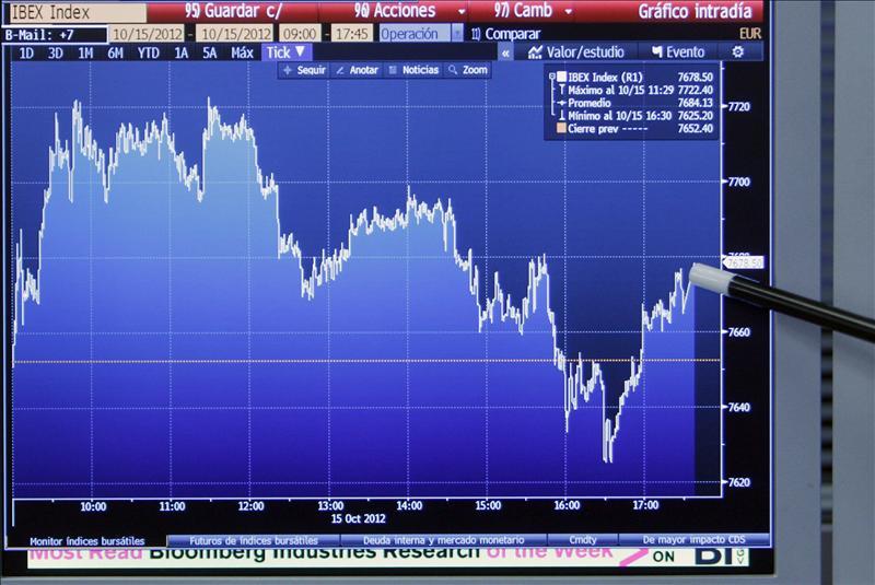 La Bolsa española abre en números rojos y el IBEX cede el 1,03 por ciento