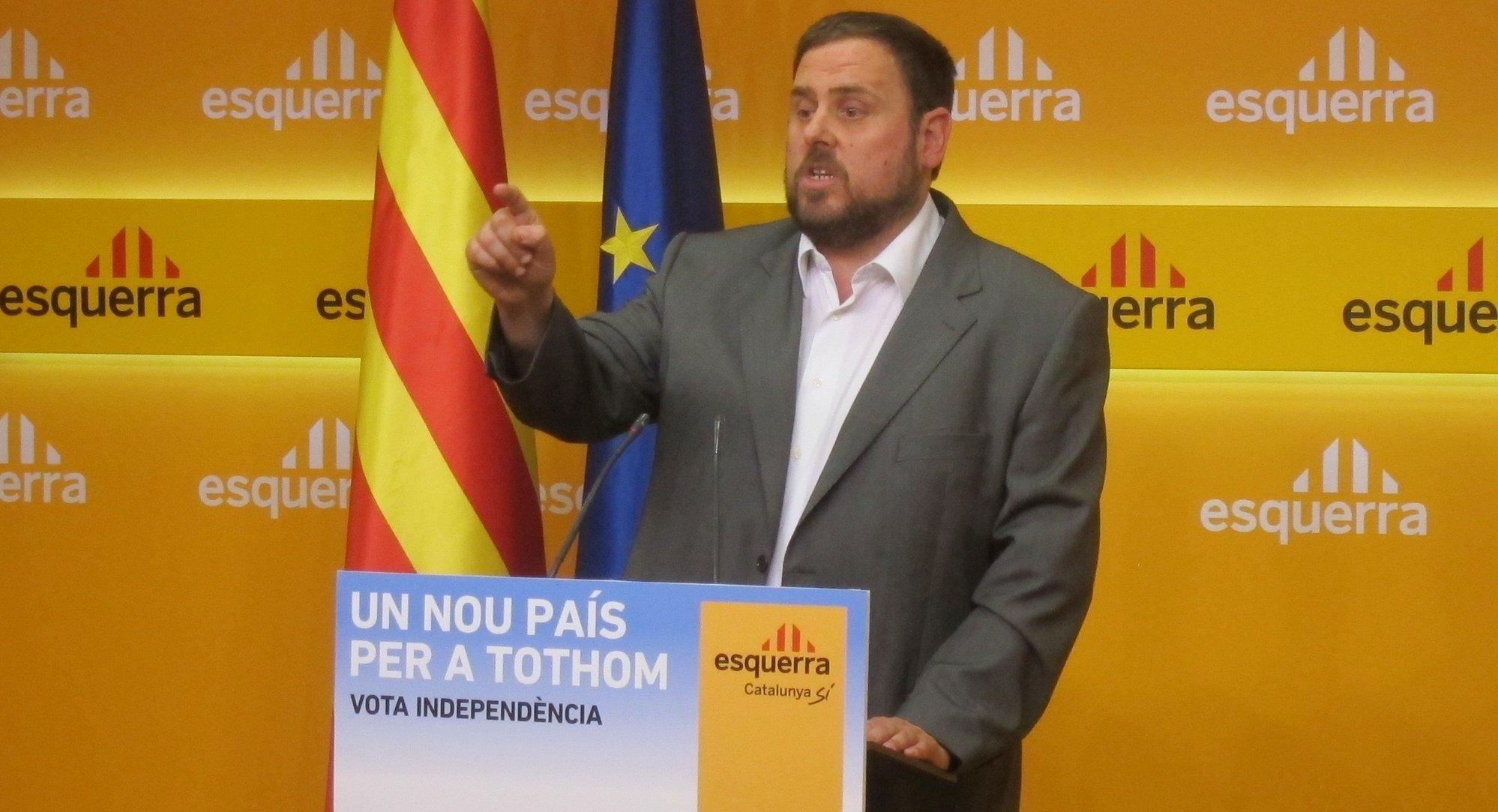 Junqueras (ERC) exige a CiU romper con el PP y frenar los recortes