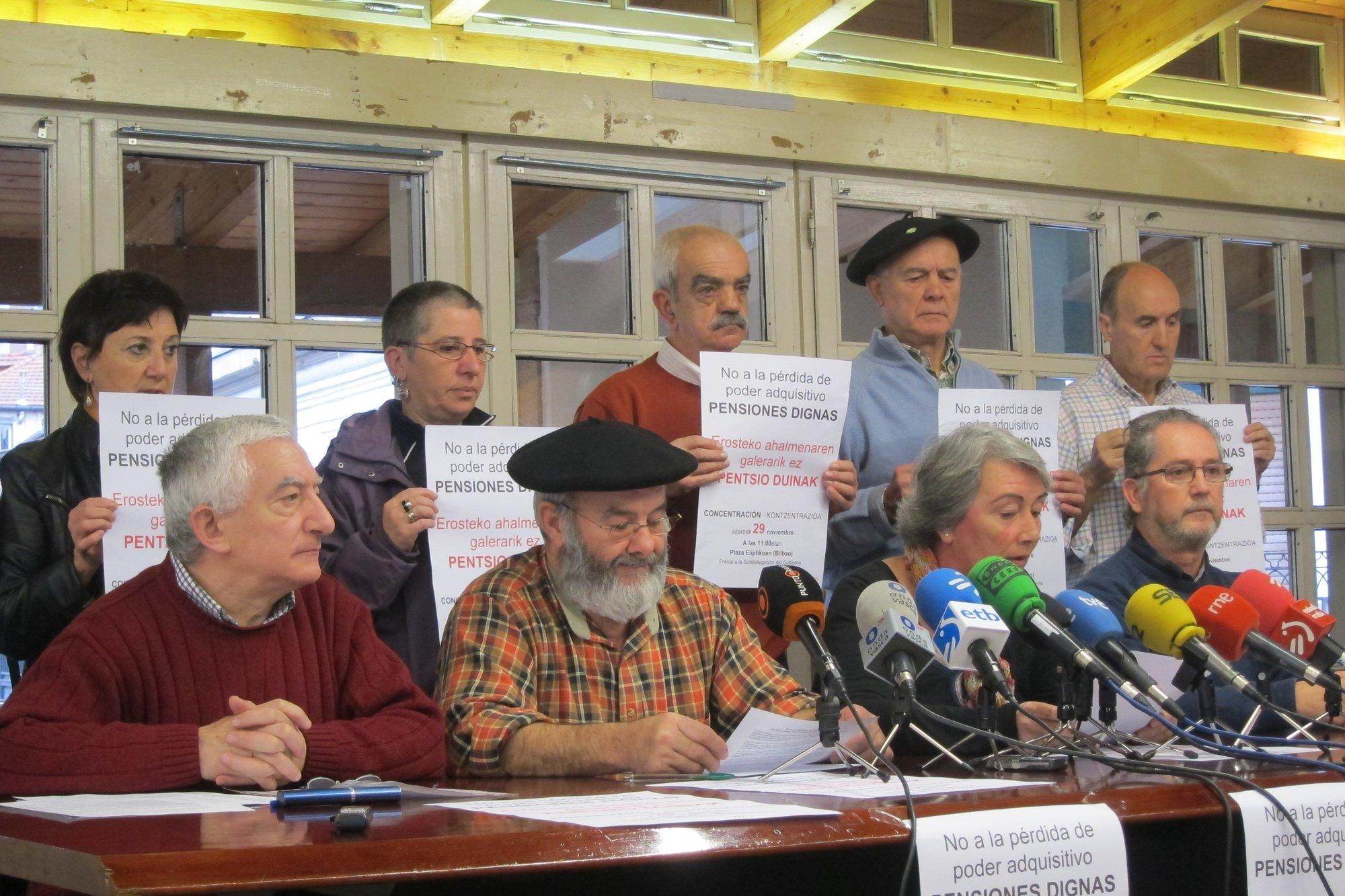 Pensionistas vascos se concentran este jueves para exigir «pensiones dignas»