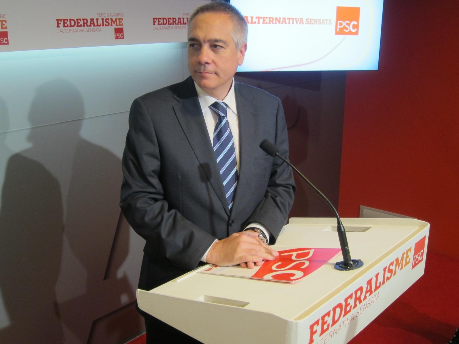 Pere Navarro (PSC) ve «difícil» un acuerdo para la investidura de Mas