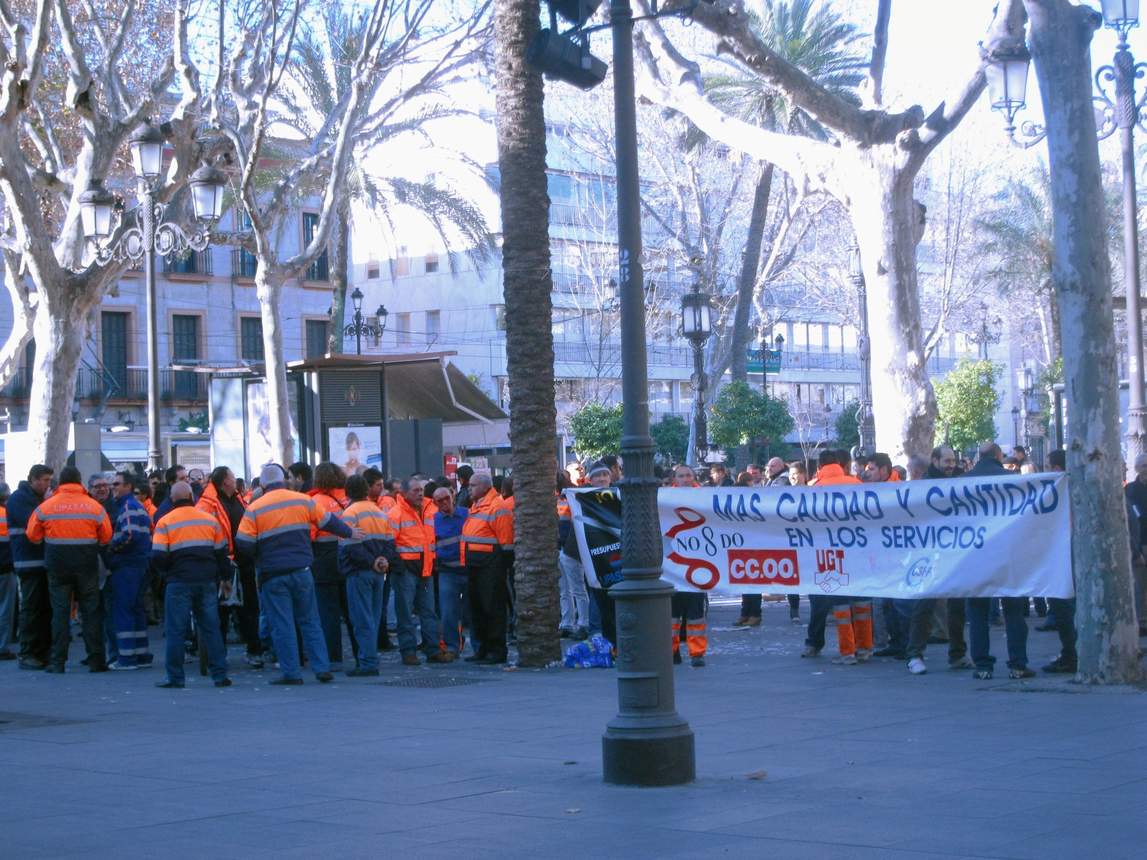 Convocados comité y directiva de Lipasam para los servicios mínimos de la huelga y protestas los días 18 y 25
