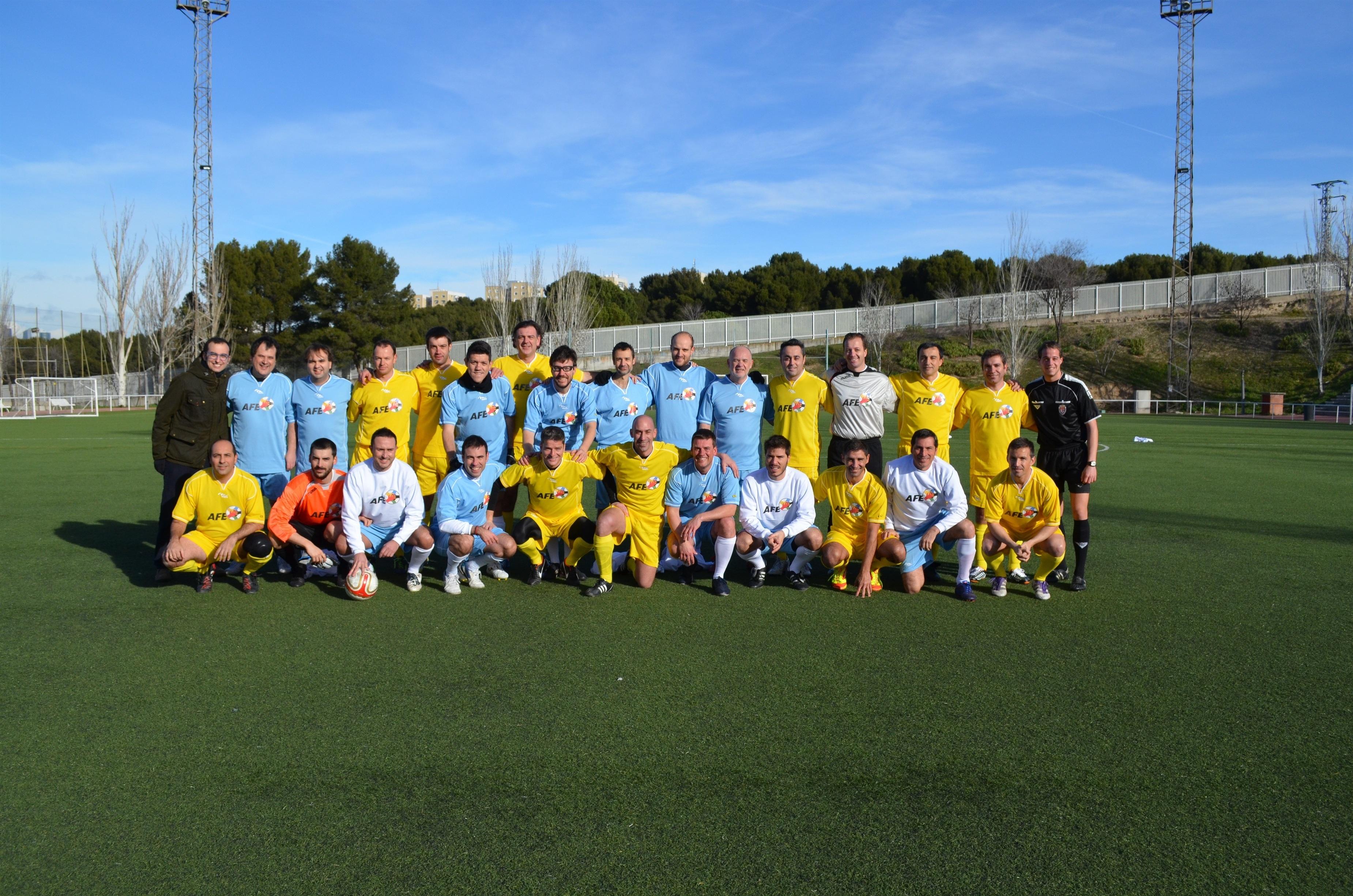 La selección de AFE gana (6-1) a la prensa en un amistoso