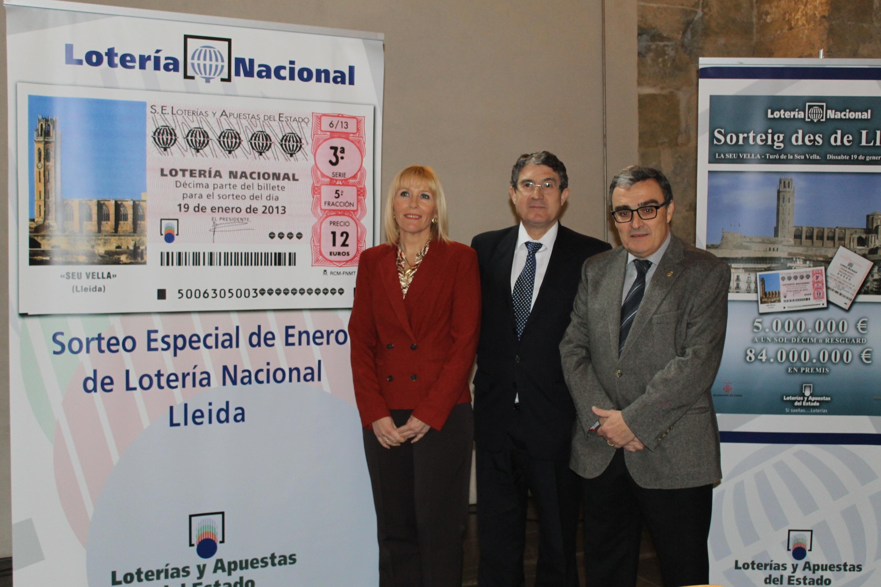 Loterías recupera en la Seu Vella de Lleida los antiguos bombos de los sorteos viajeros