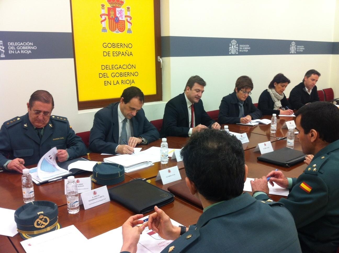 La Delegación del Gobierno y las cabeceras de comarca de La Rioja han celebrados las Juntas Locales de Seguridad