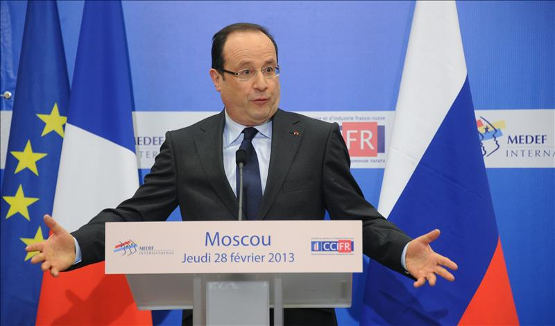 Hollande agradece a Putin su apoyo a la intervención francesa en Mali
