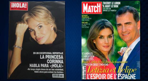 Los Príncipes, portada de Paris Match, donde Corinna vuelve a decir que se ha sentido utilizada