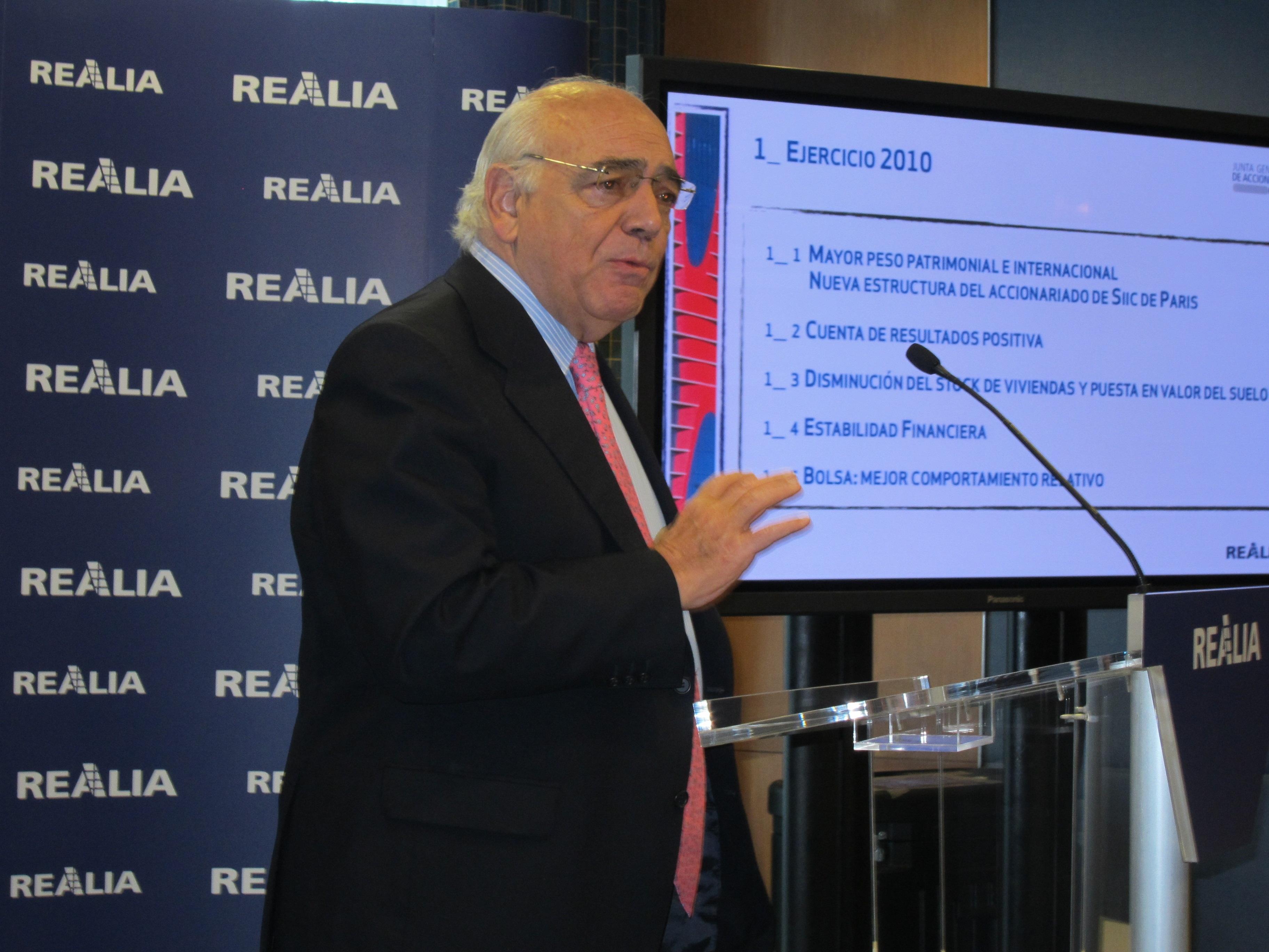 Realia pierde 319 millones por devaluación de activos y provisiones