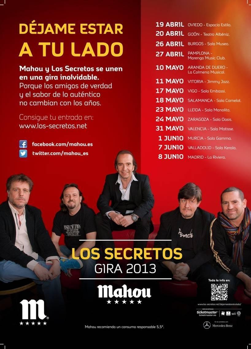 Los Secretos anuncian una gira por salas que pasará por Valencia