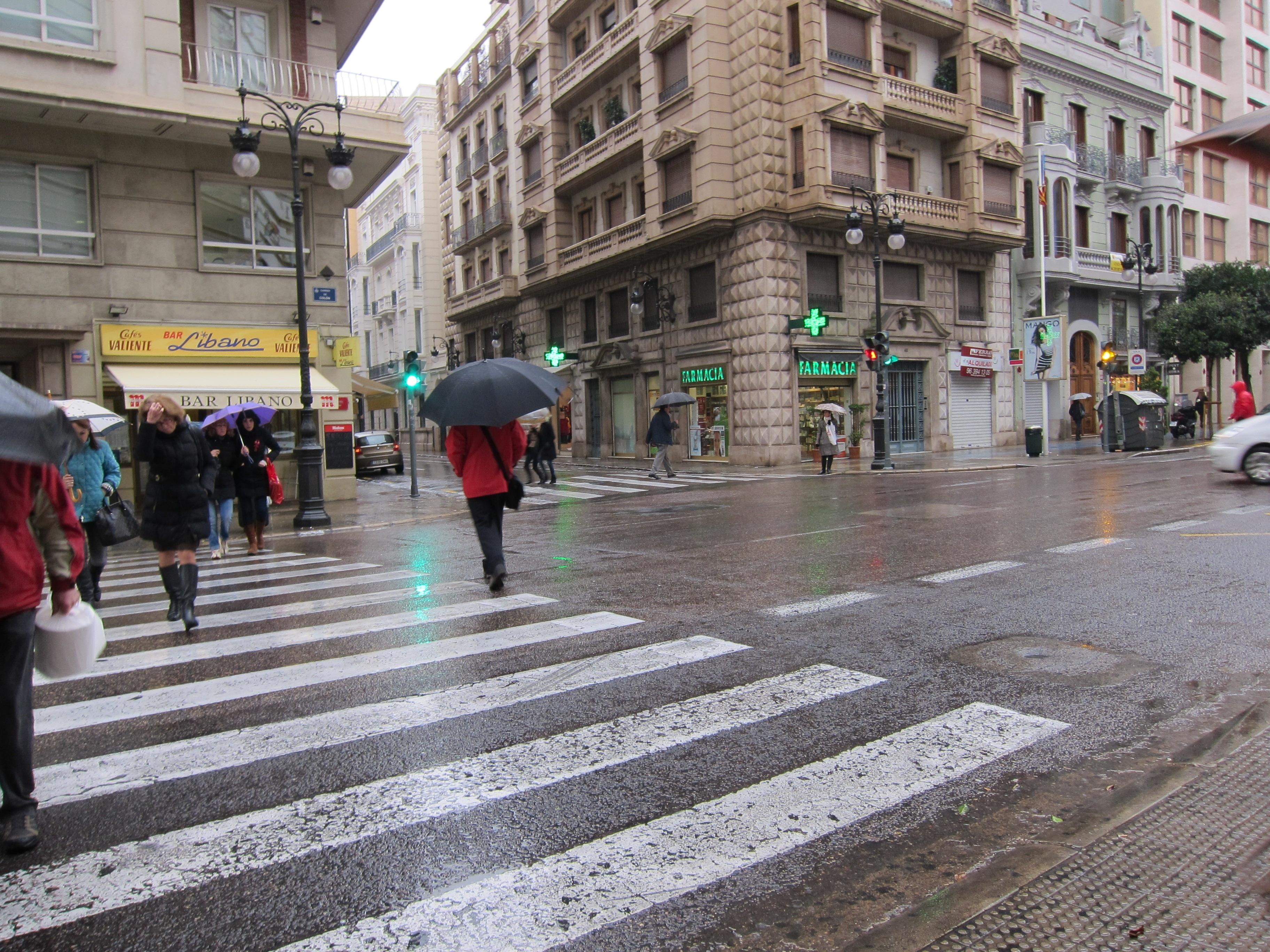 La ciudad de Valencia recoge 13 litros por metros cuadrado de aguas pluviales