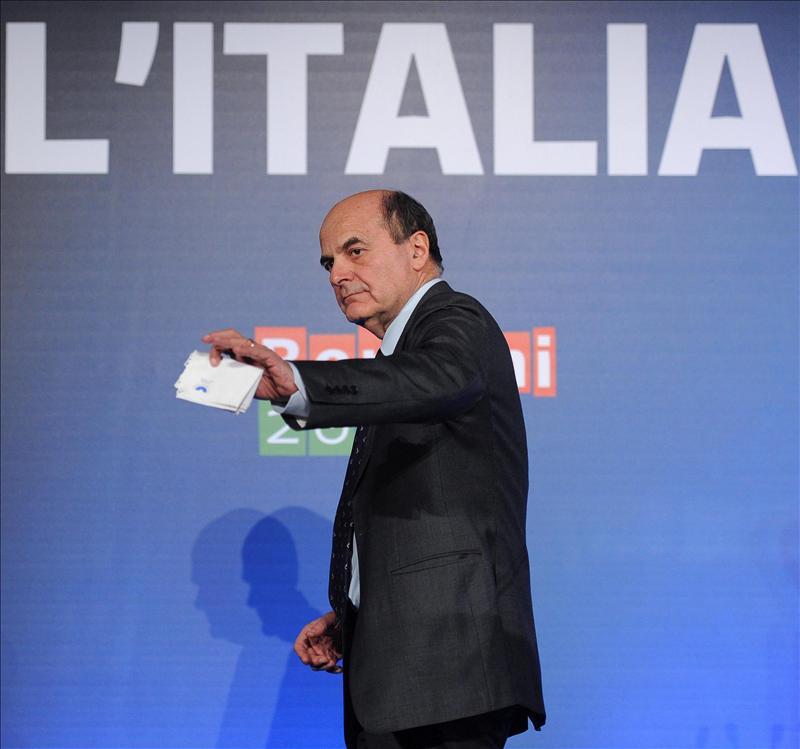Bersani excluye un Gobierno de coalición con Berlusconi