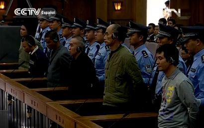 China retransmite en directo las horas previas a cuatro ejecuciones