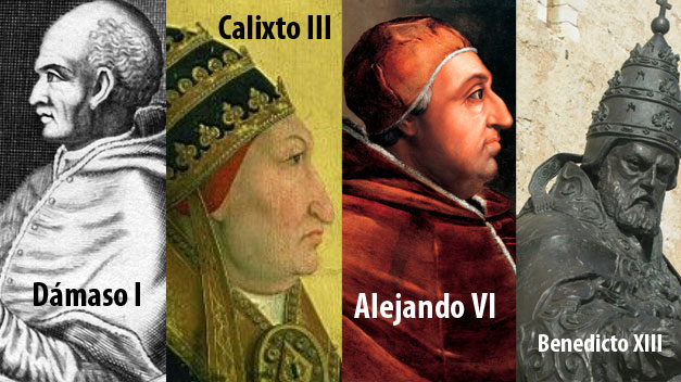 La historia de los cuatro papas españoles
