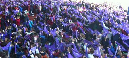 Cientos de niños celebran por adelantado el »Purple Day» para perder el miedo a la epilepsia
