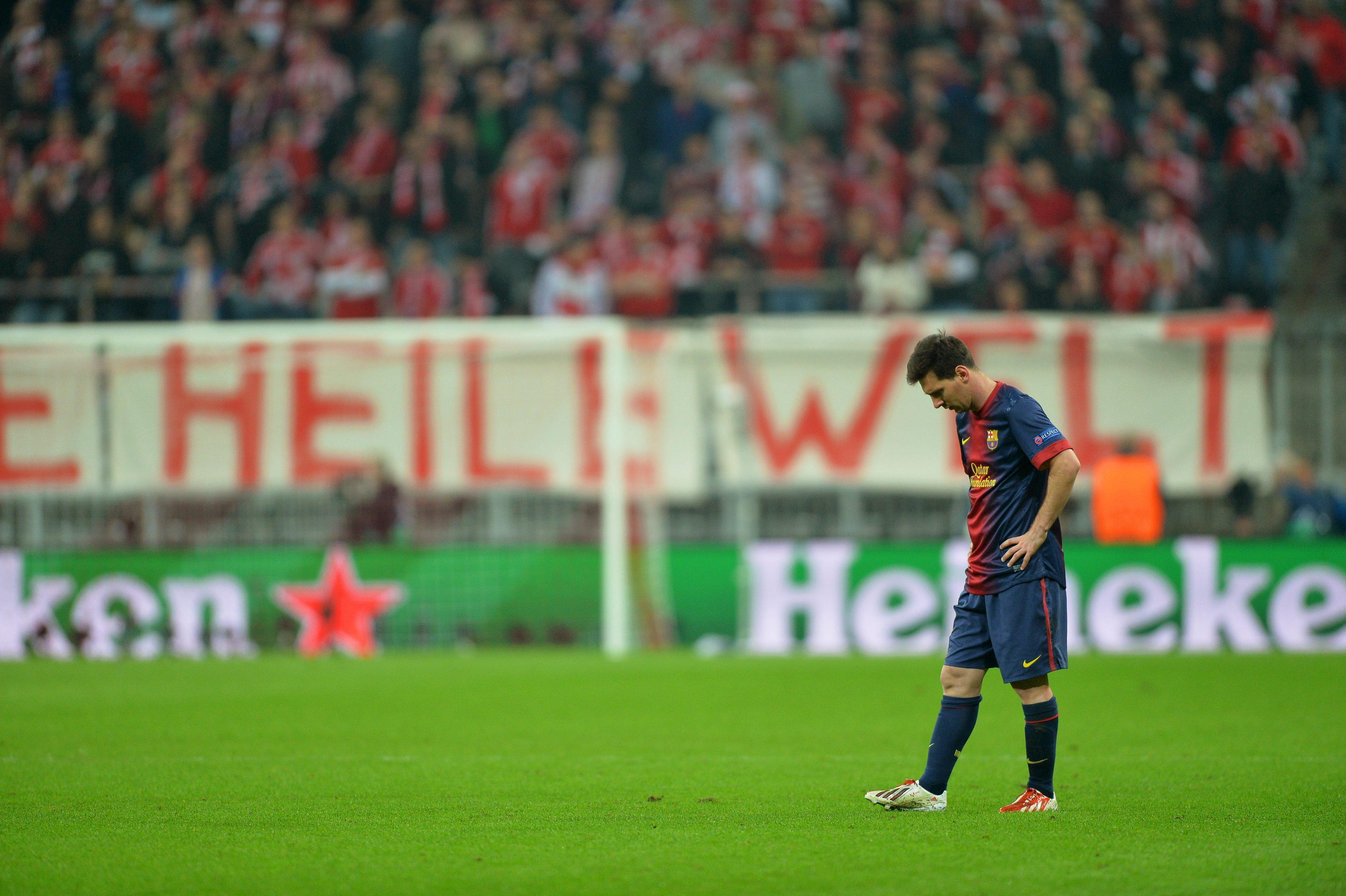 Messi fue el jugador del Barça que menos corrió durante el partido contra el Bayern