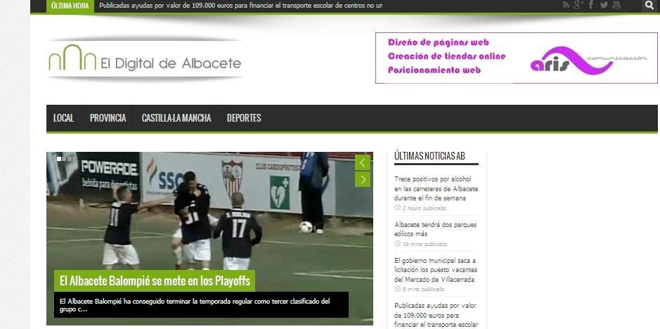 Albacete cuenta desde este lunes con un nuevo medio de comunicación, eldigitaldealbacete.com