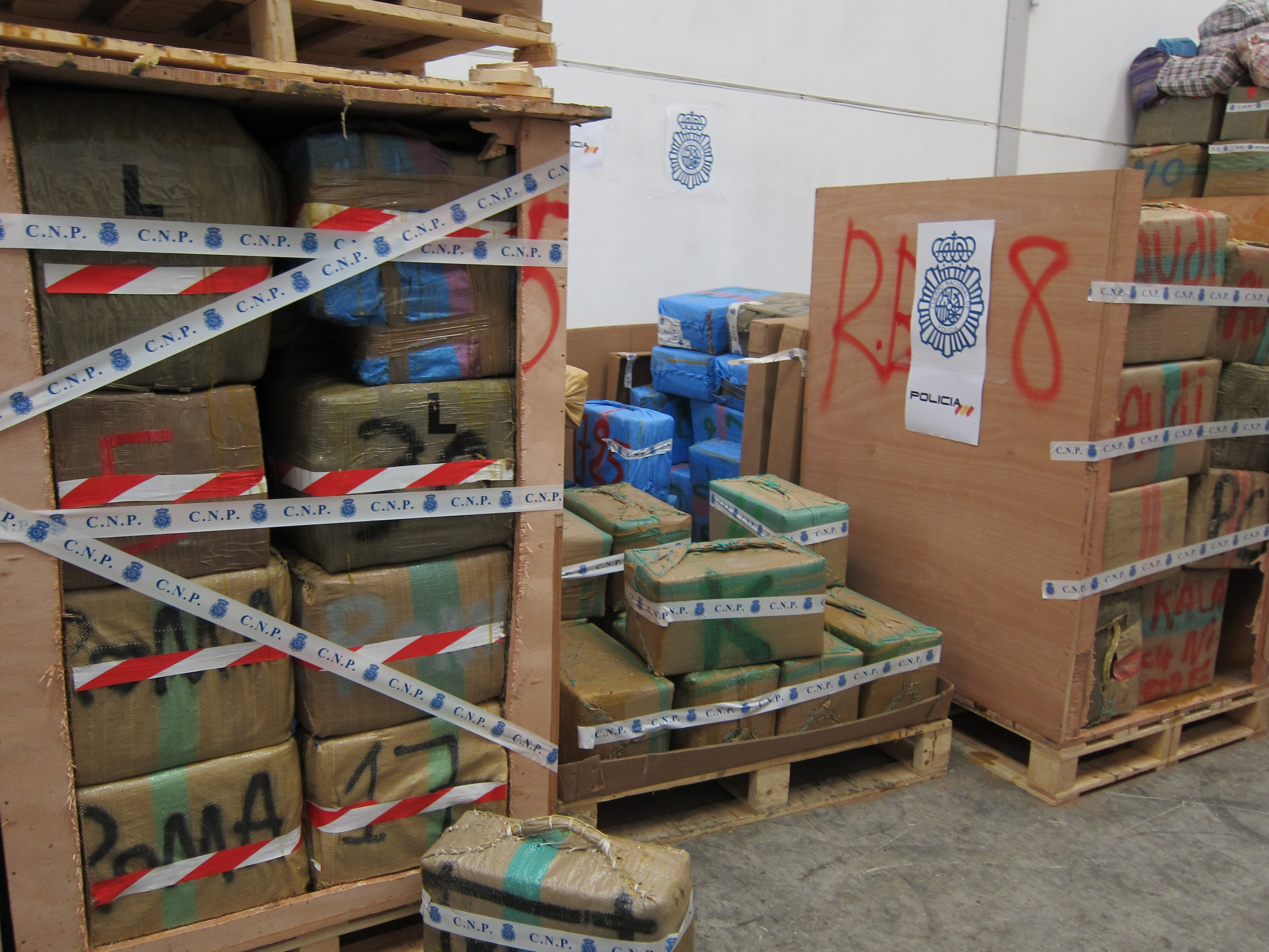 La CEP reclama que sean agentes de Sevilla los que custodien las más de 64 toneladas de hachís durante la feria