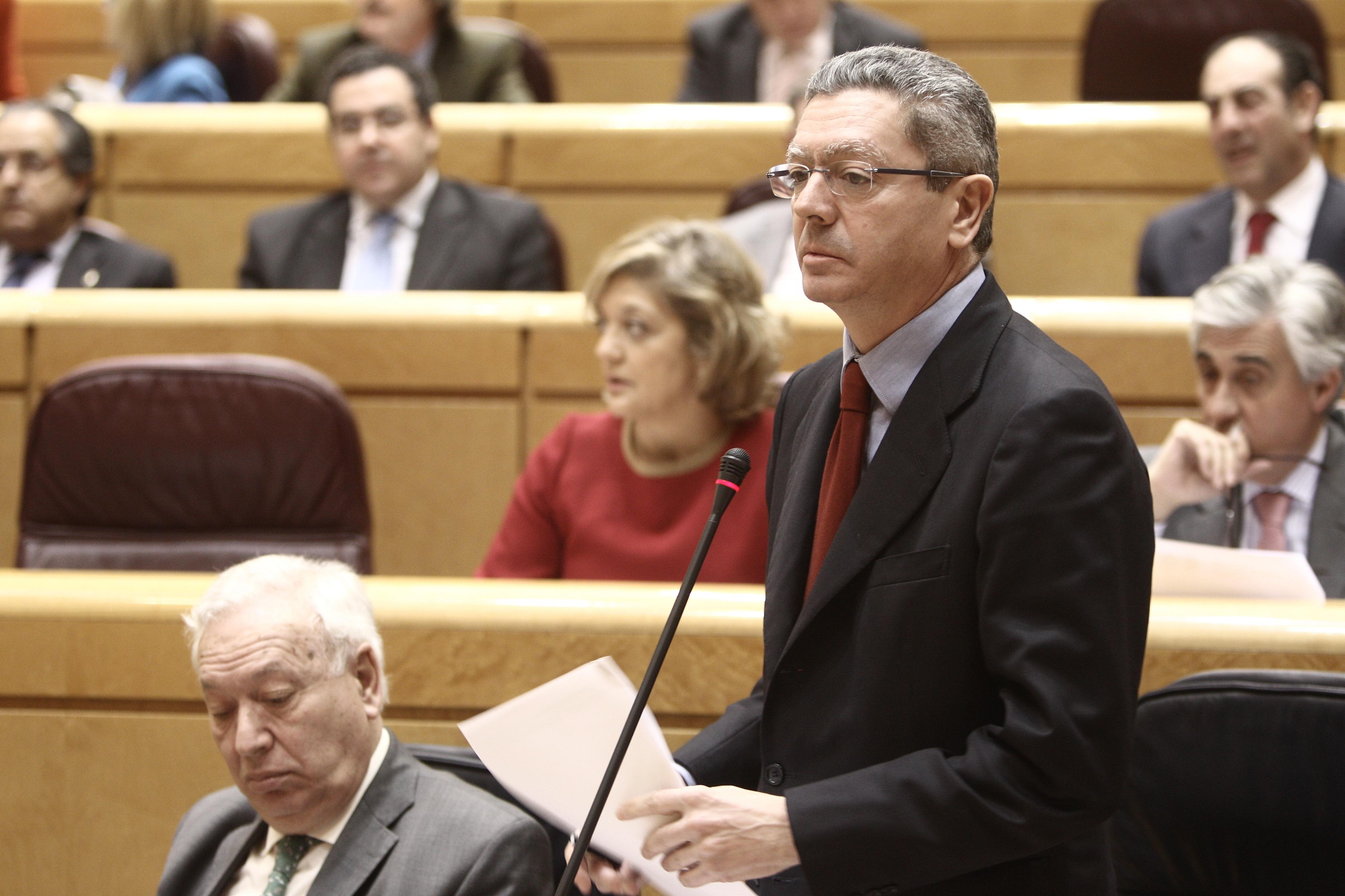 Gallardón abordará de nuevo mañana ante el Pleno del Senado la reforma de la ley