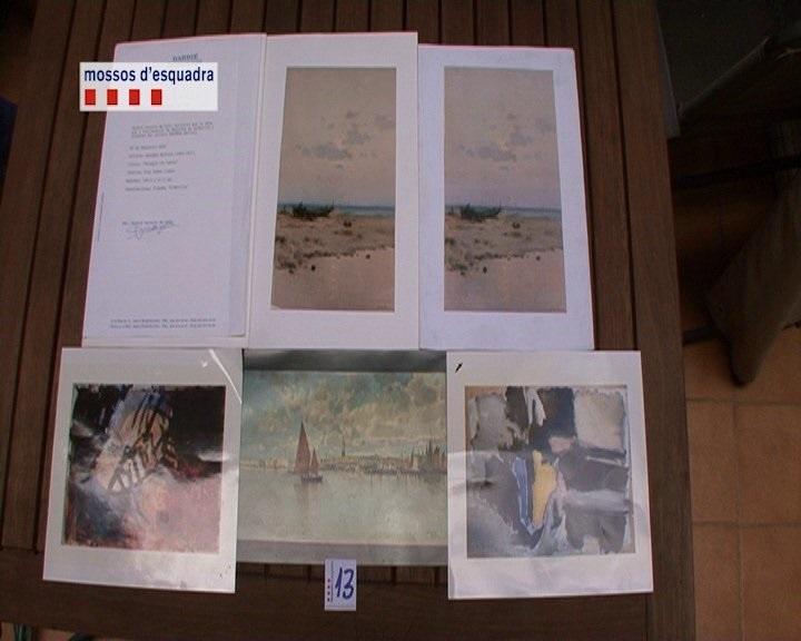 Detenidos un marchante y un administrador de una galería por vender cuadros falsificados