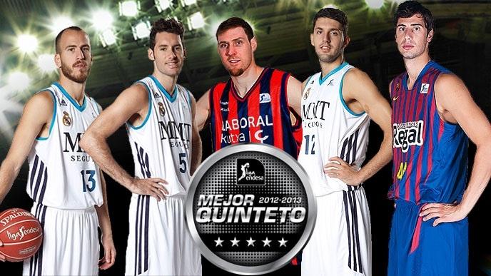 Sergio Rodríguez, Rudy, Nocioni, Mirotic y Tomic, mejor quinteto de la temporada
