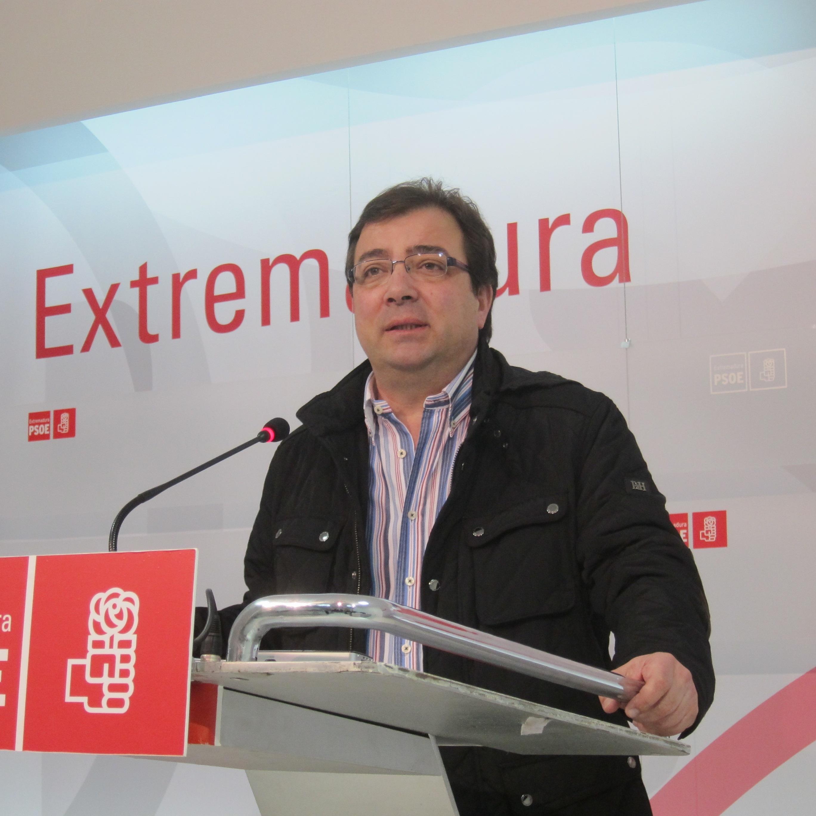 Vara constata el «fracaso de Monago» que en dos años ha situado a Extremadura «otra vez en el furgón de cola»