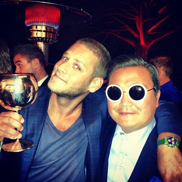 Un imitador de Psy, de fiesta en fiesta en Cannes