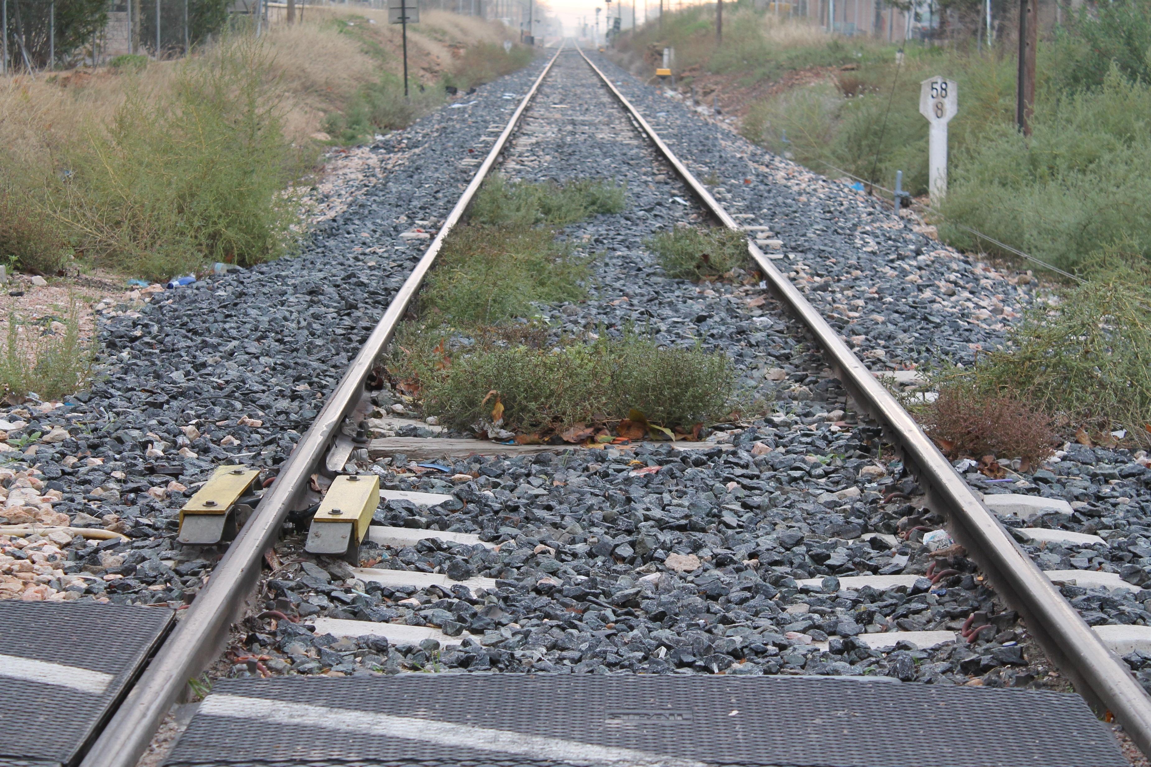 La Plataforma por el Ferrocarril Público realiza una marcha en Gallur con el lema »¡No perdamos el tren!»