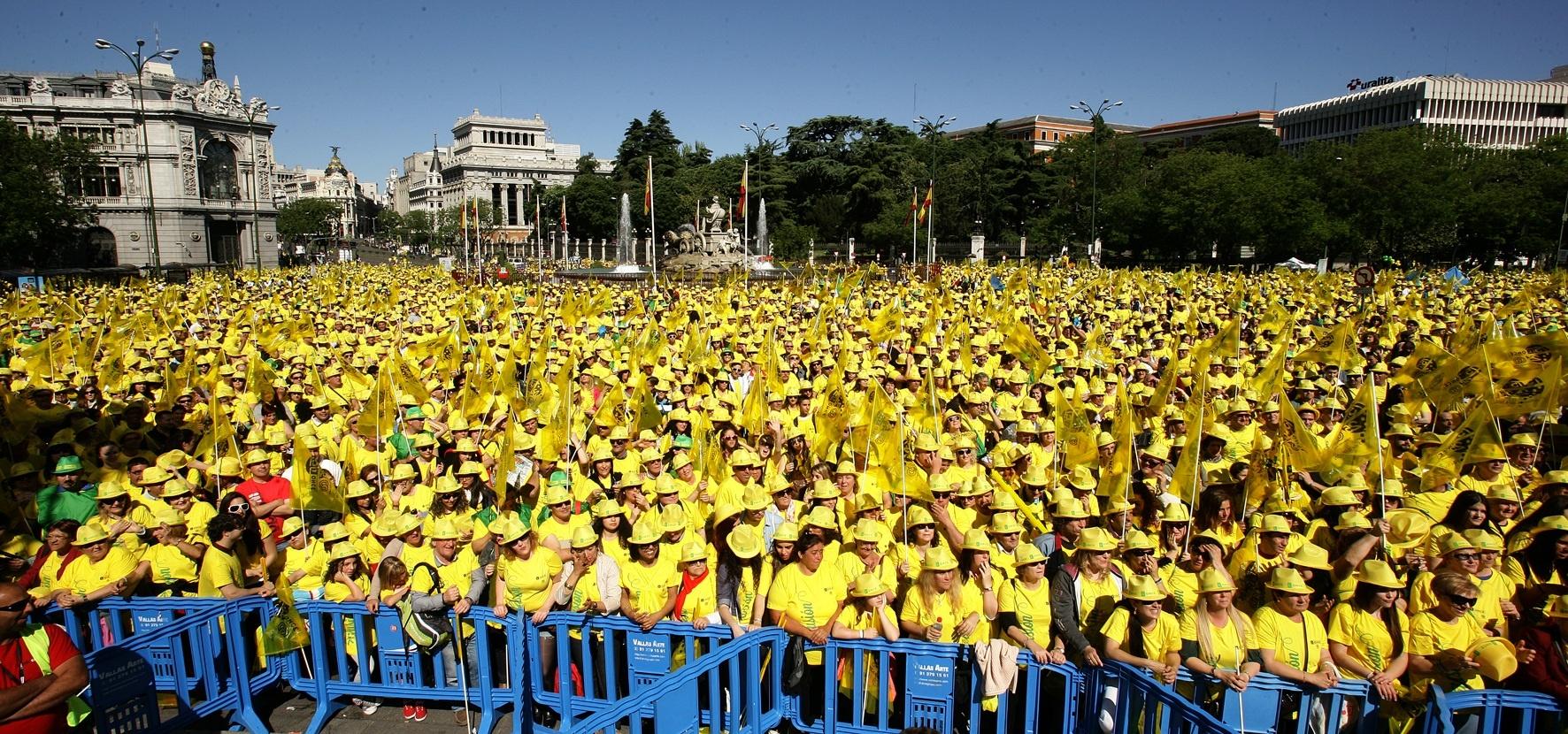 Unas 100.000 personas celebran con la ONCE su 75º aniversario