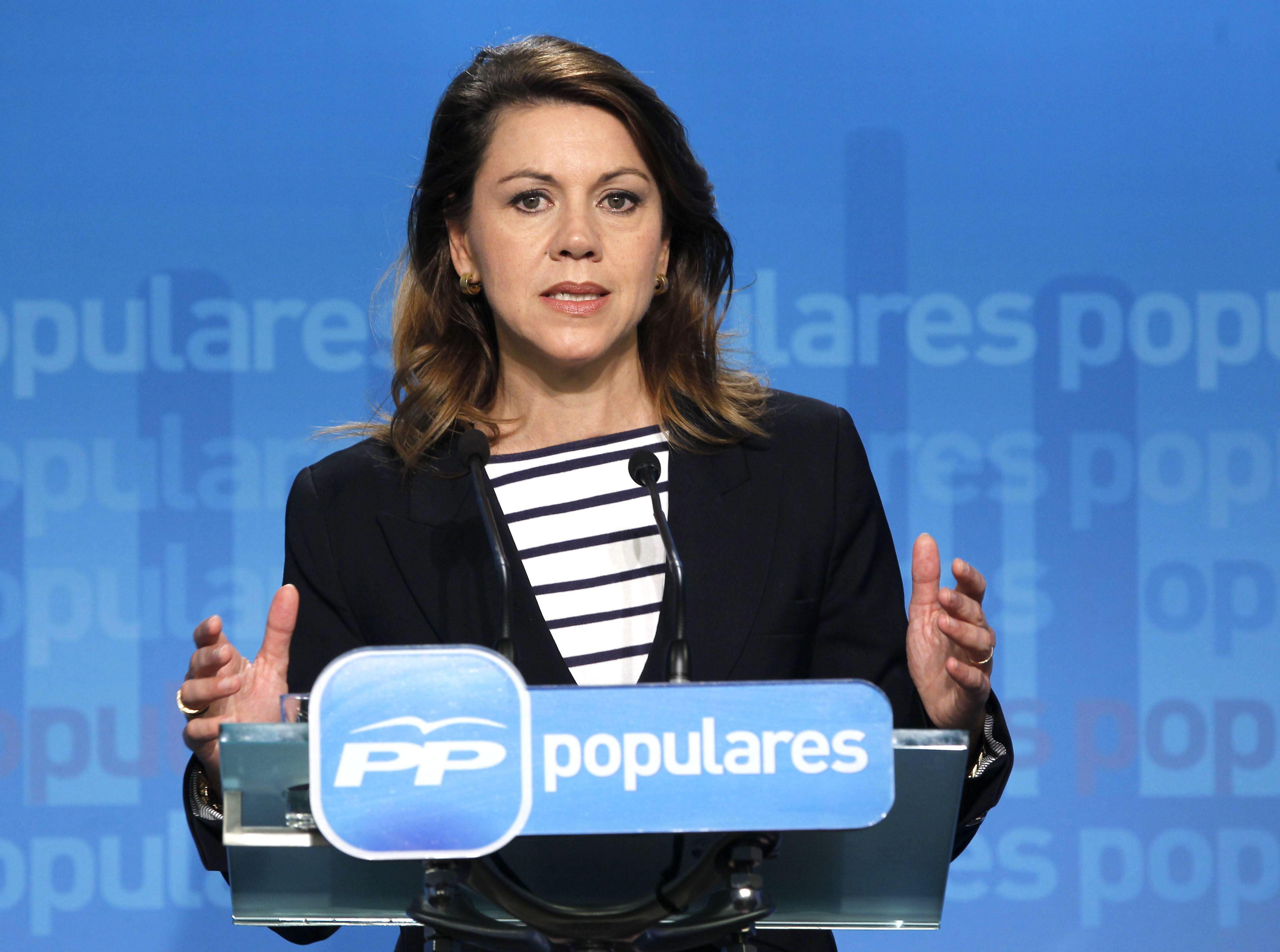 Cospedal ve posible un acuerdo con el PSOE sobre UE pero no un gran pacto