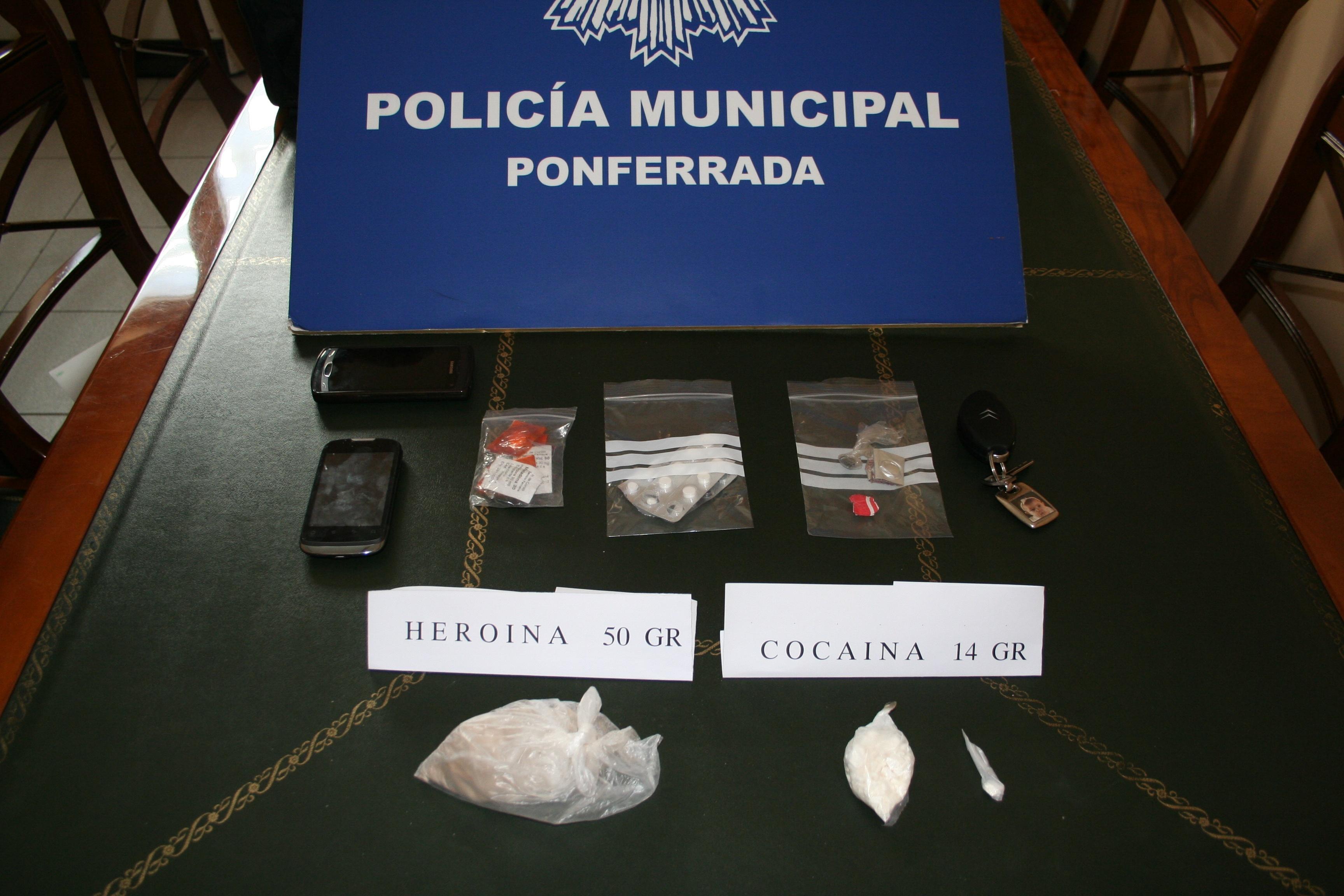 Detenidas dos personas en Ponferrada (León) por tráfico de drogas