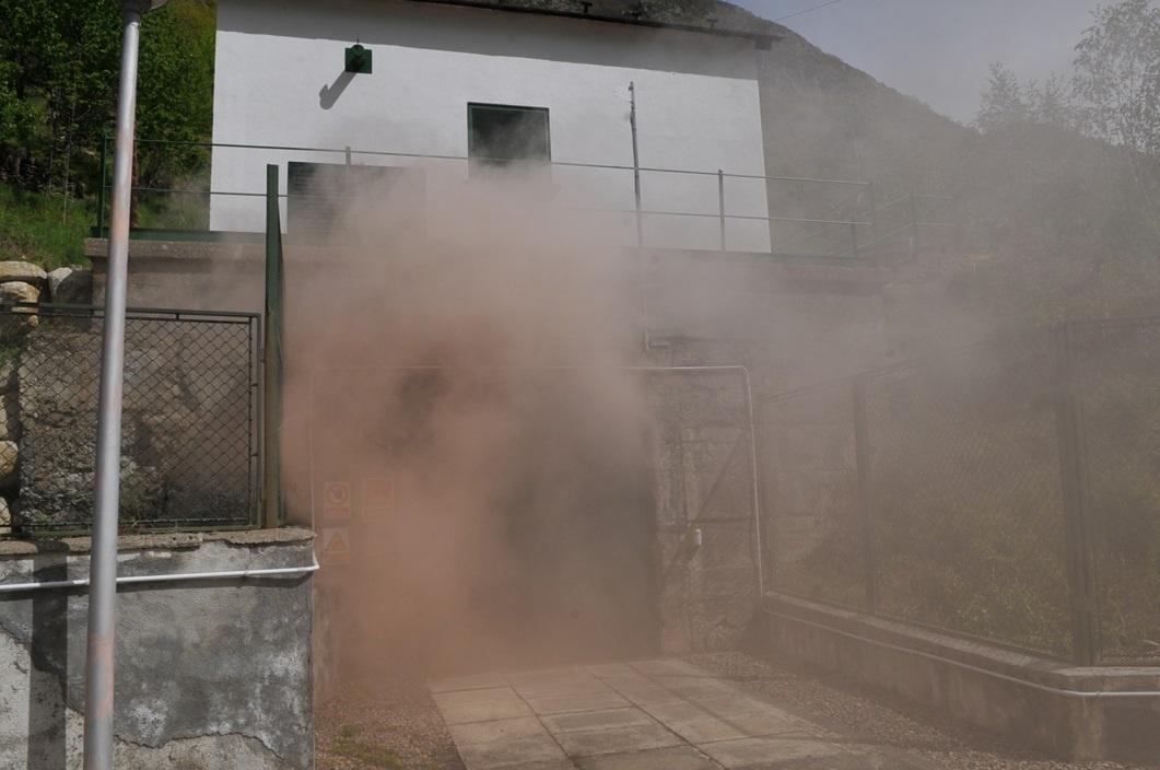 Endesa realiza un simulacro de incendio en la central hidráulica de Tavascan