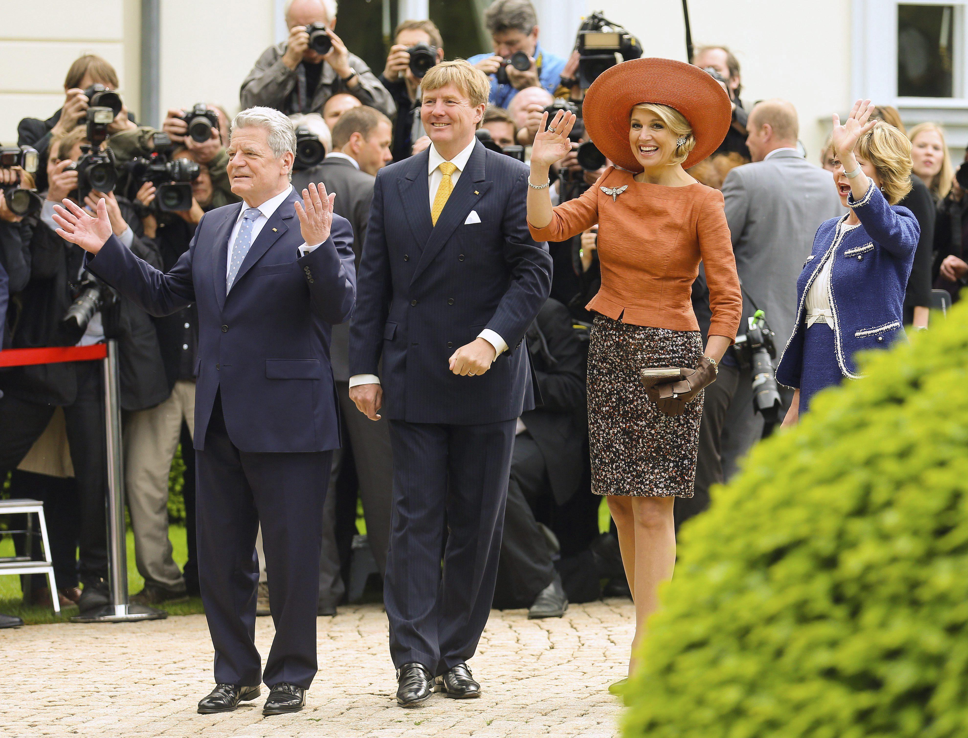 Guillermo Alejando y Máxima abren con Merkel una misión empresarial holandesa