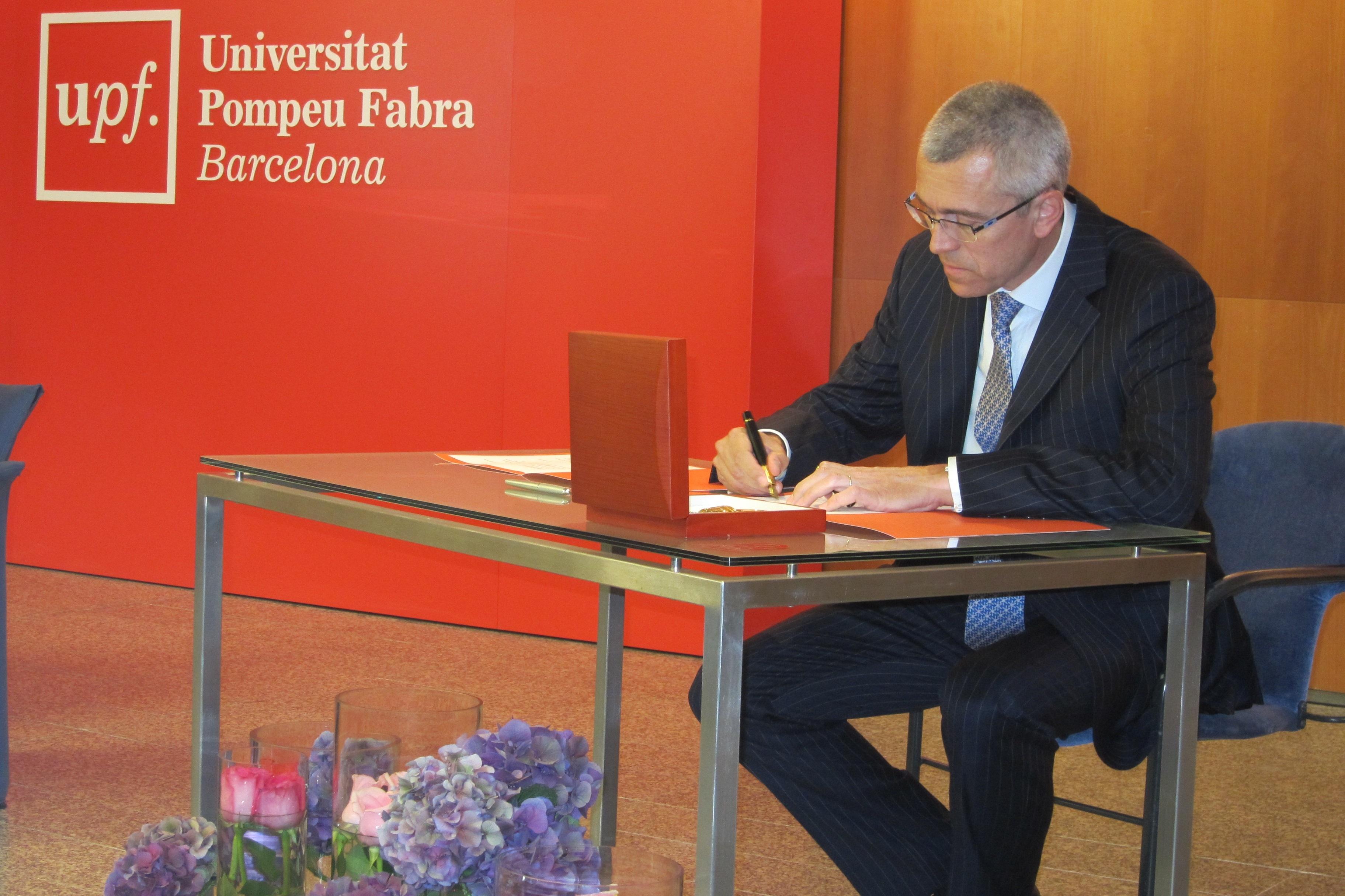 El nuevo rector de la UPF se compromete a situar a la universidad «entre las mejores» de Europa