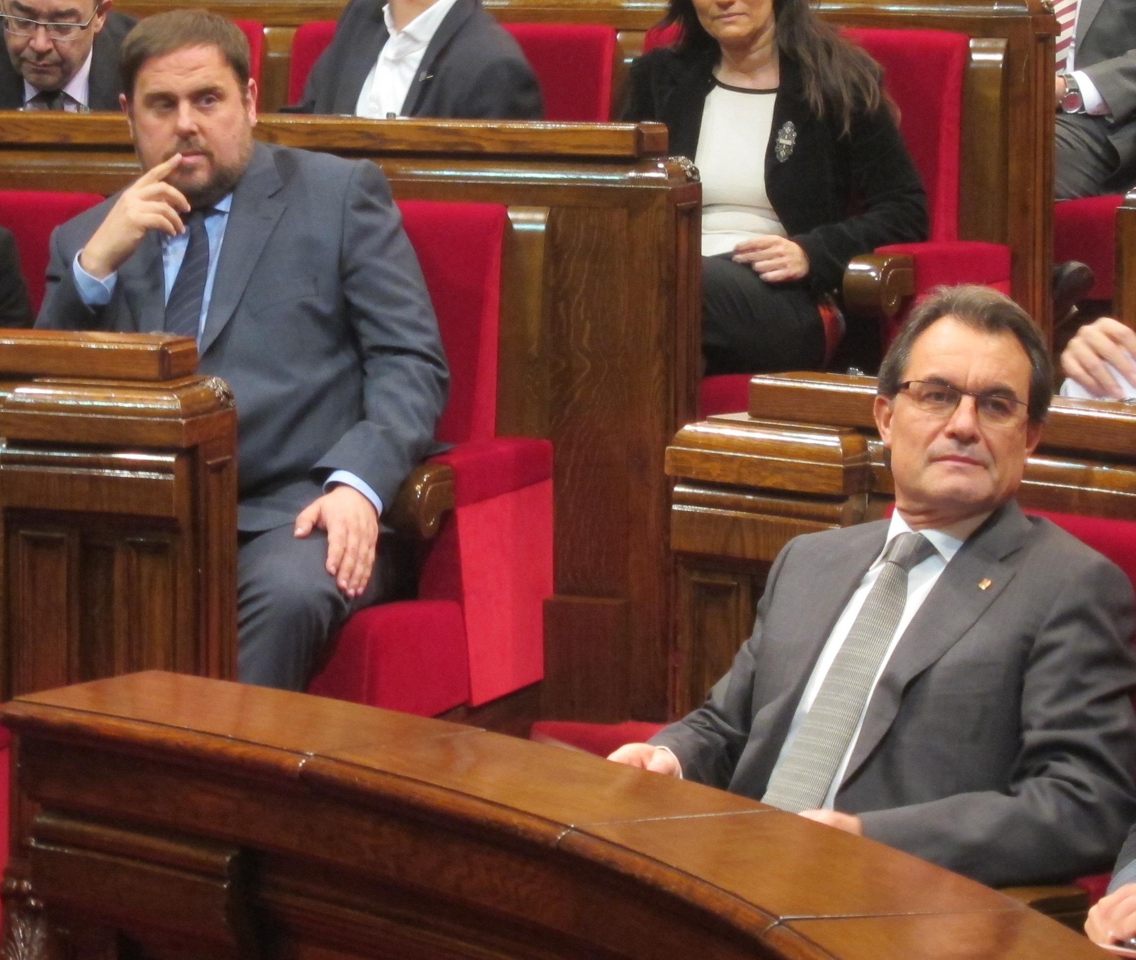 CiU y ERC sellarán su acuerdo sobre los nuevos impuestos en una votación en el Parlament