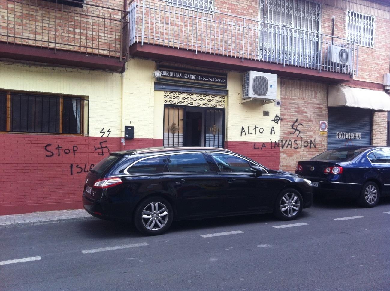 La Comisión Islámica de España denuncia la aparición de pintadas xenófobas en una mezquita de Armilla