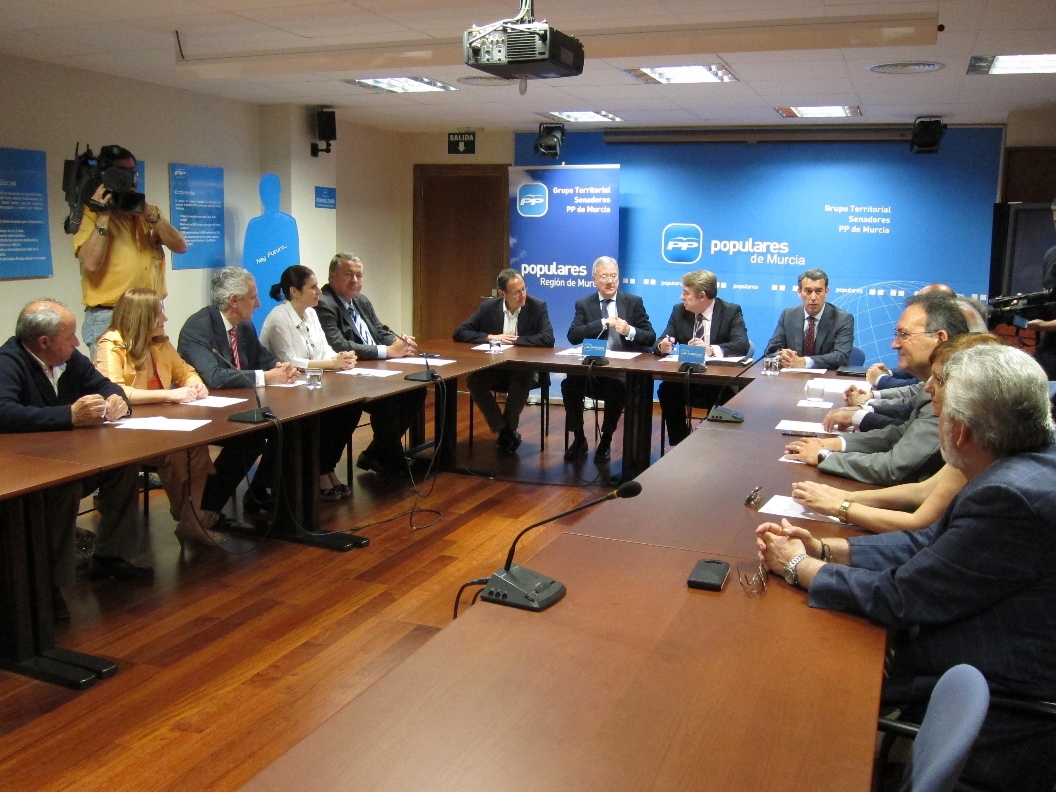 Los senadores del PP por la Región constituyen grupo territorial para trasladar propuestas de Murcia a la cámara alta