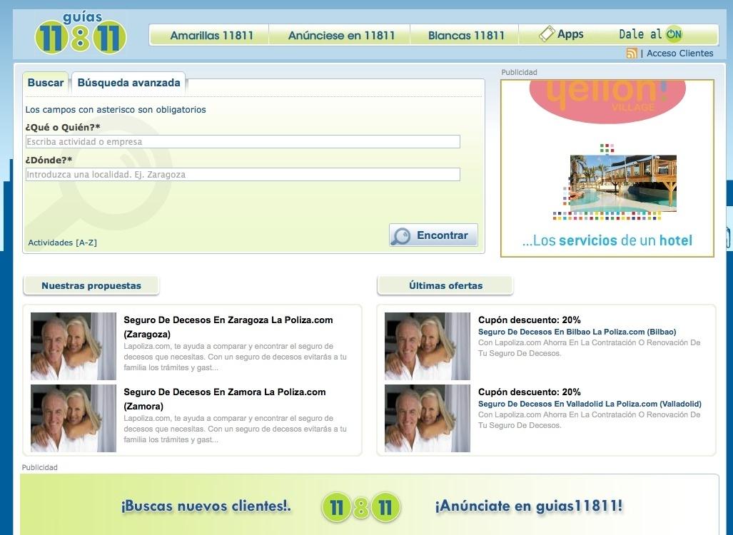 Titania compra a la alemana Telegate la firma de información telefónica 11811 y su negocio español