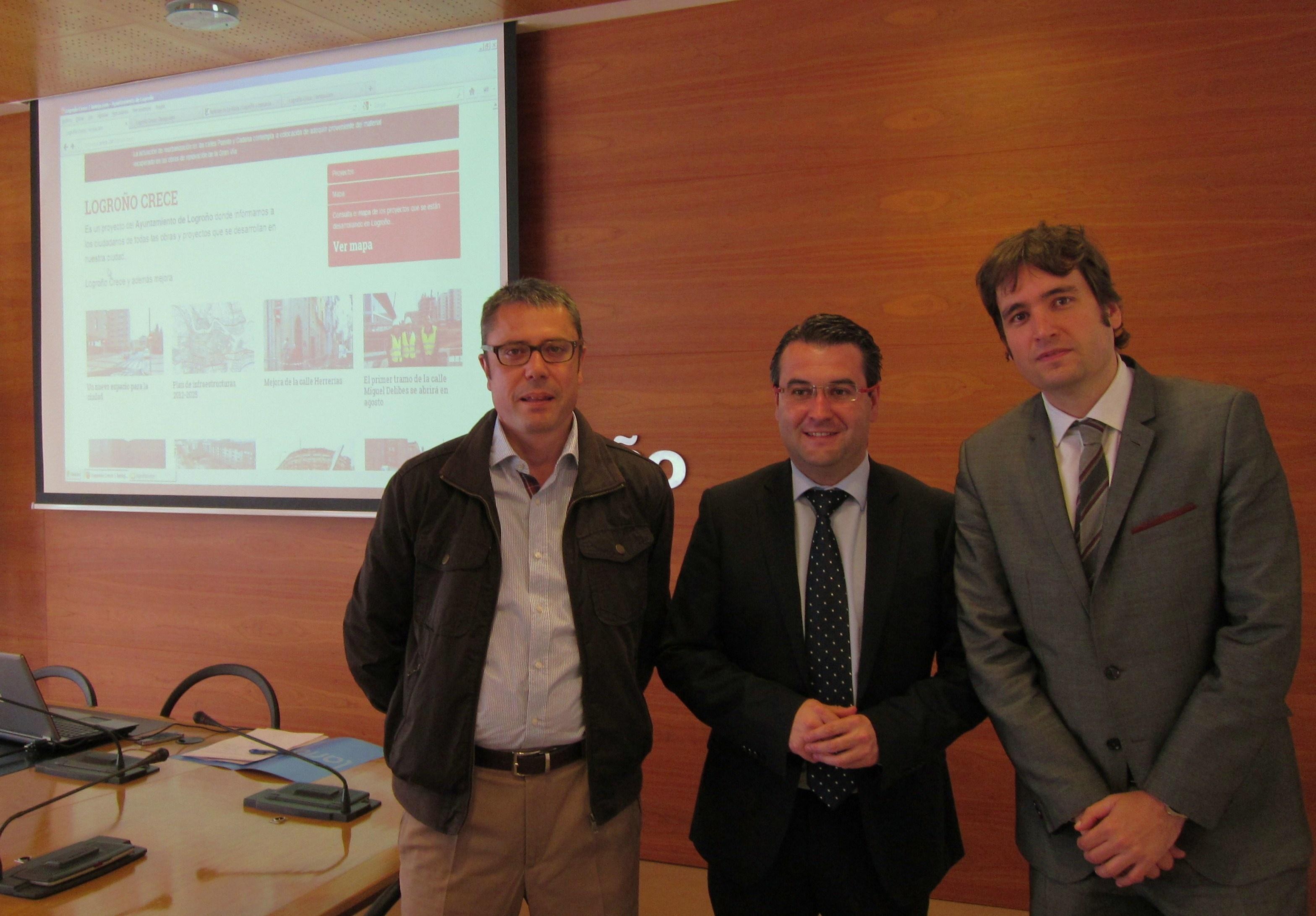 El Ayuntamiento informará a los logroñeses sobre las obras de la ciudad a través del canal web «Logroño crece»