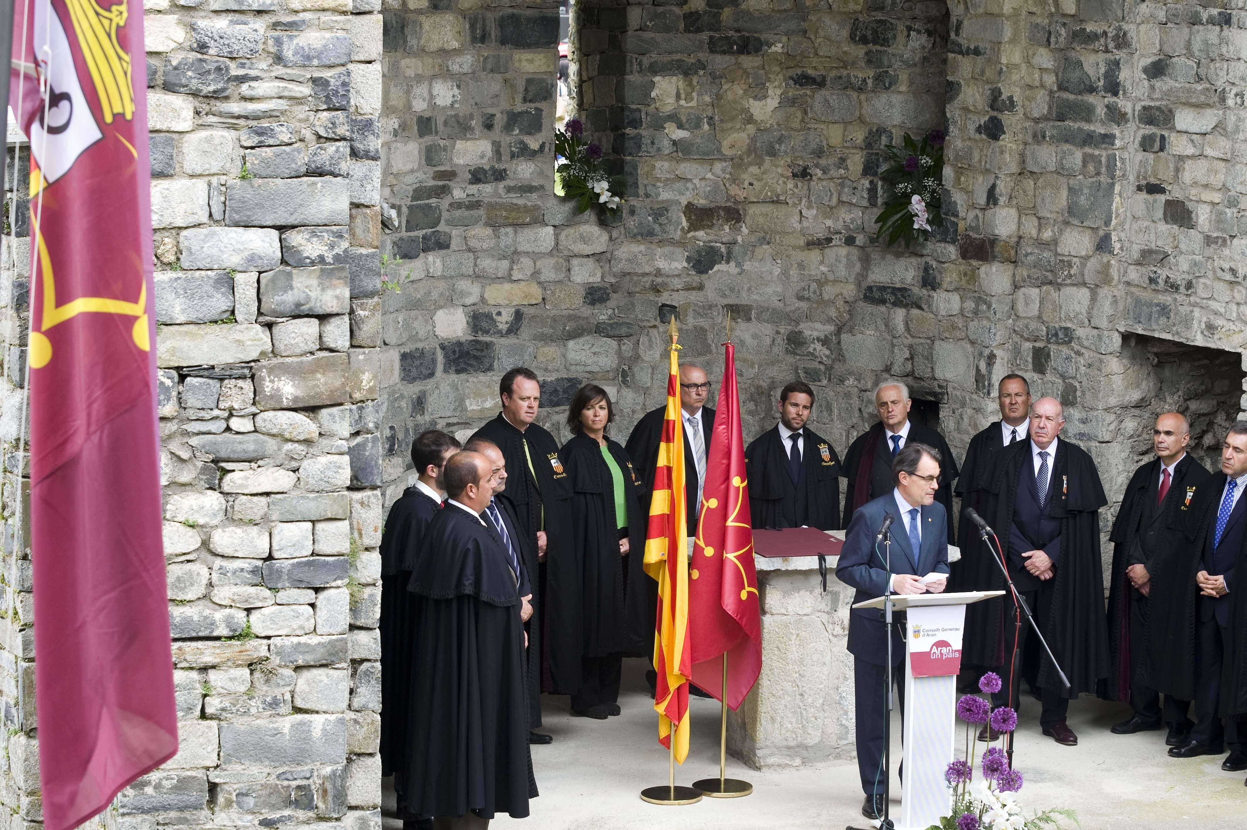 Mas pide para Cataluña el mismo «respeto» que el Gobierno catalán tiene con el Val d»Aran
