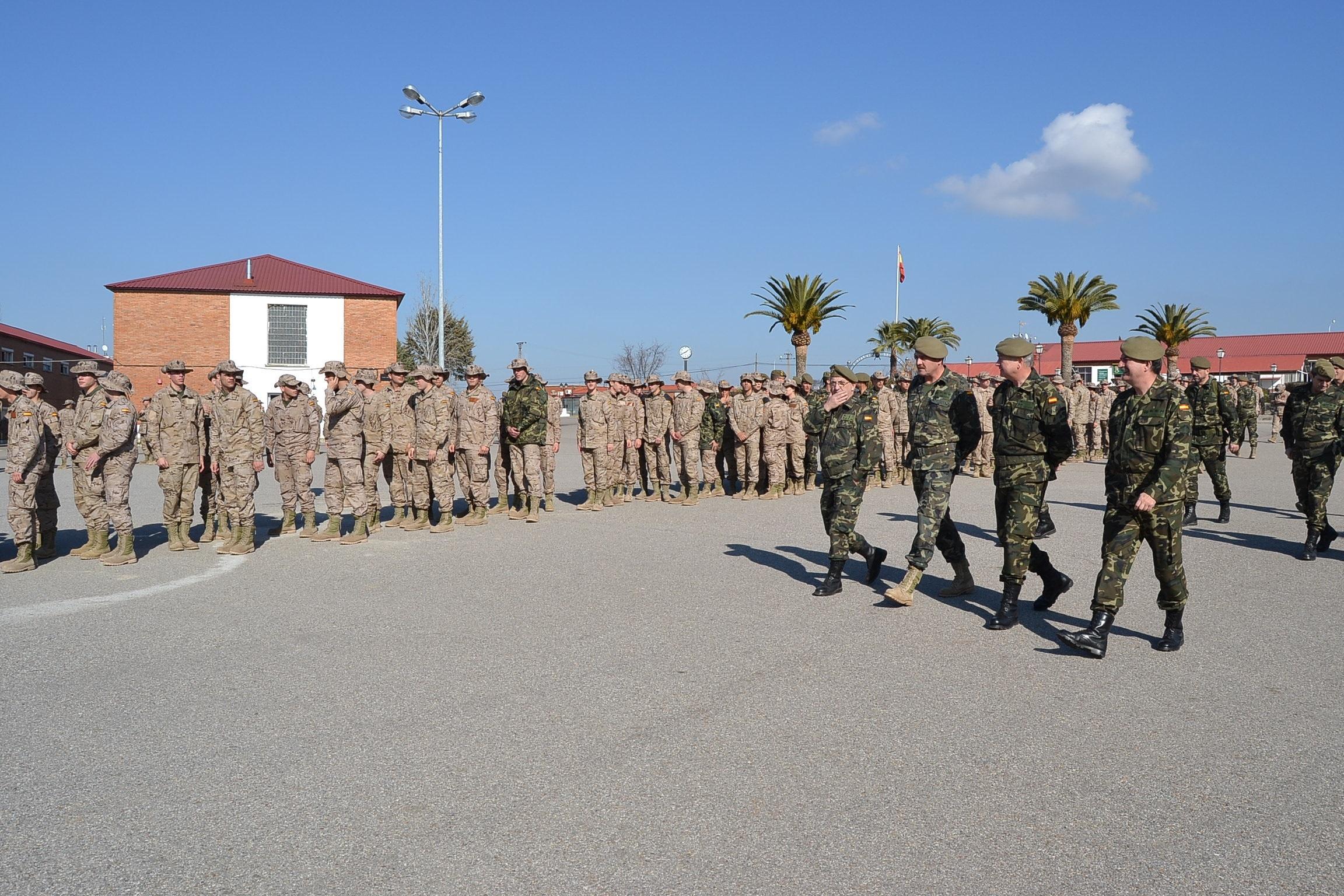 El Cefot de Cáceres recibirá en octubre una nueva remesa de soldados para su formación