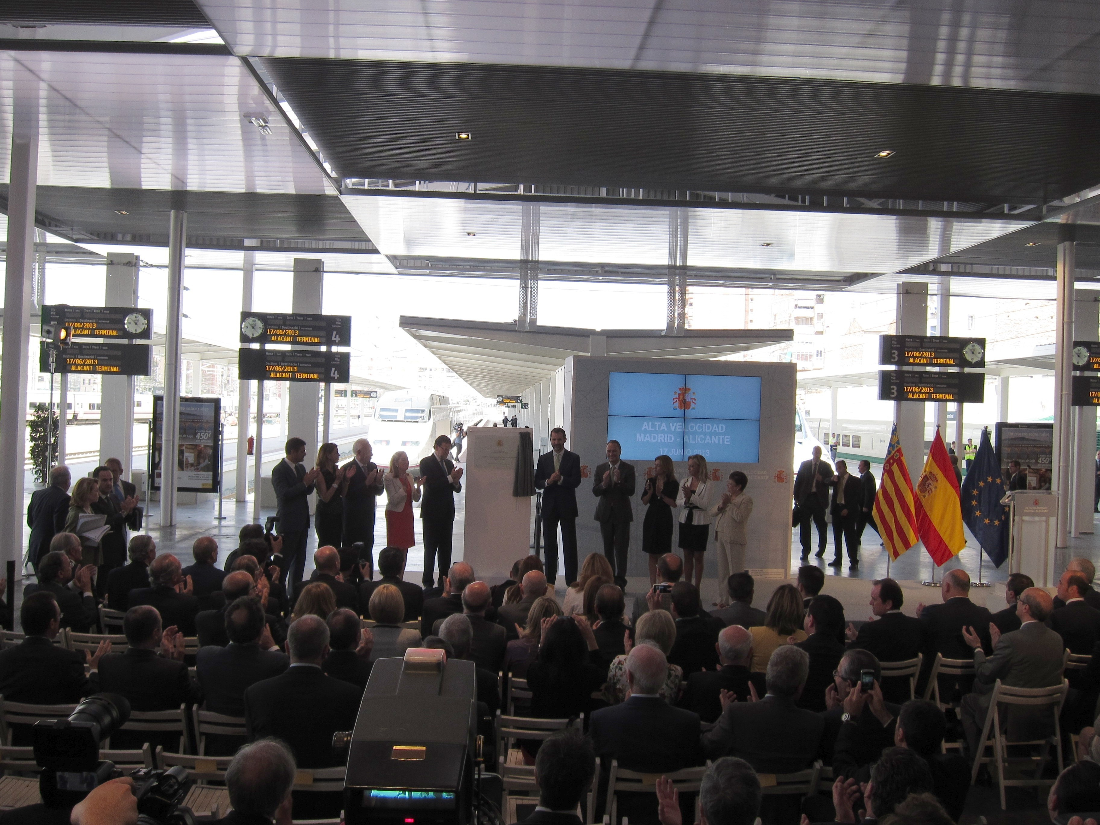 El Príncipe destaca que el papel del nuevo AVE a Alicante como «palanca» económica