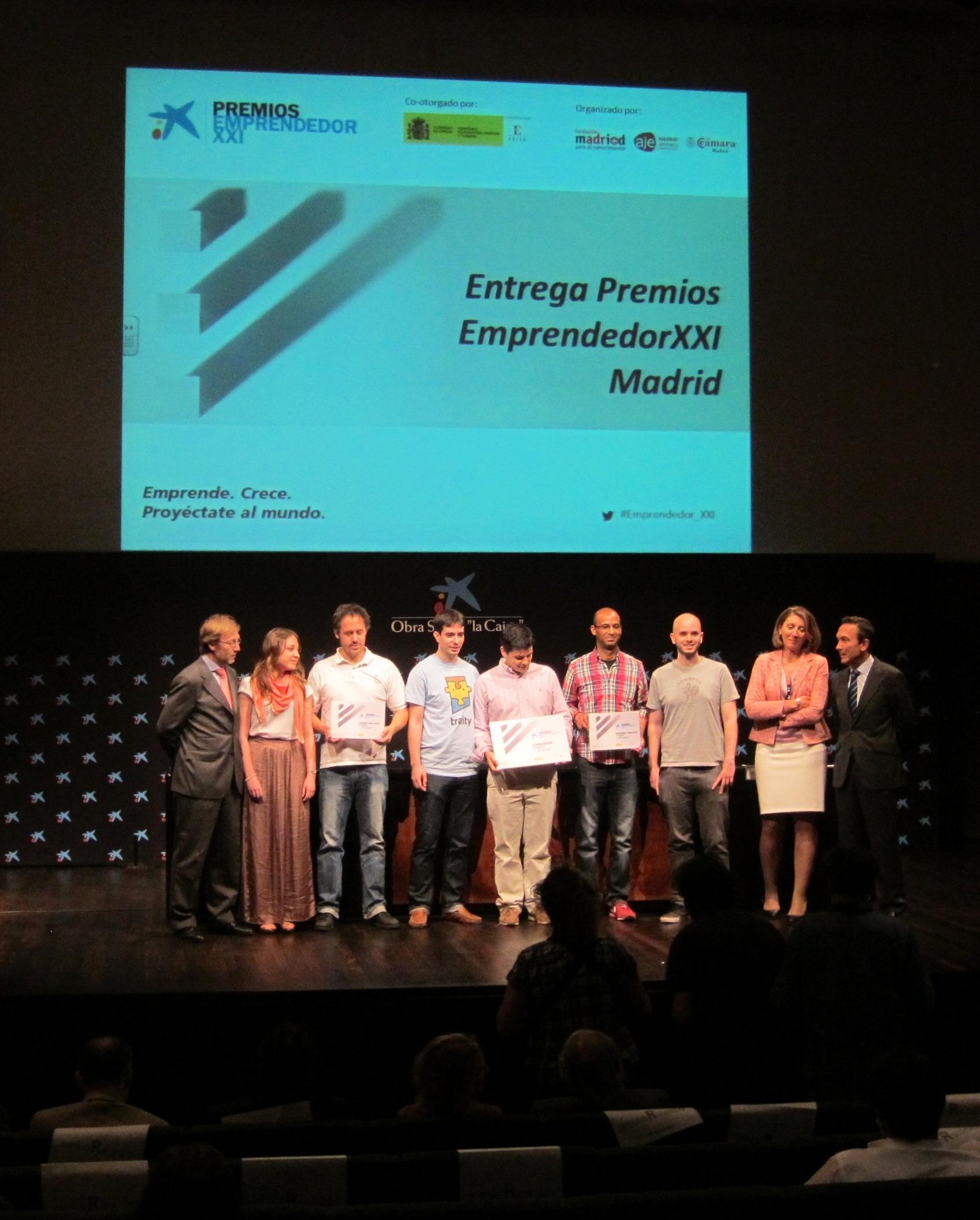 La empresa Traity.com gana la fase autonómica de los Premios EmprendedorXXI y representará a Madrid en la nacional