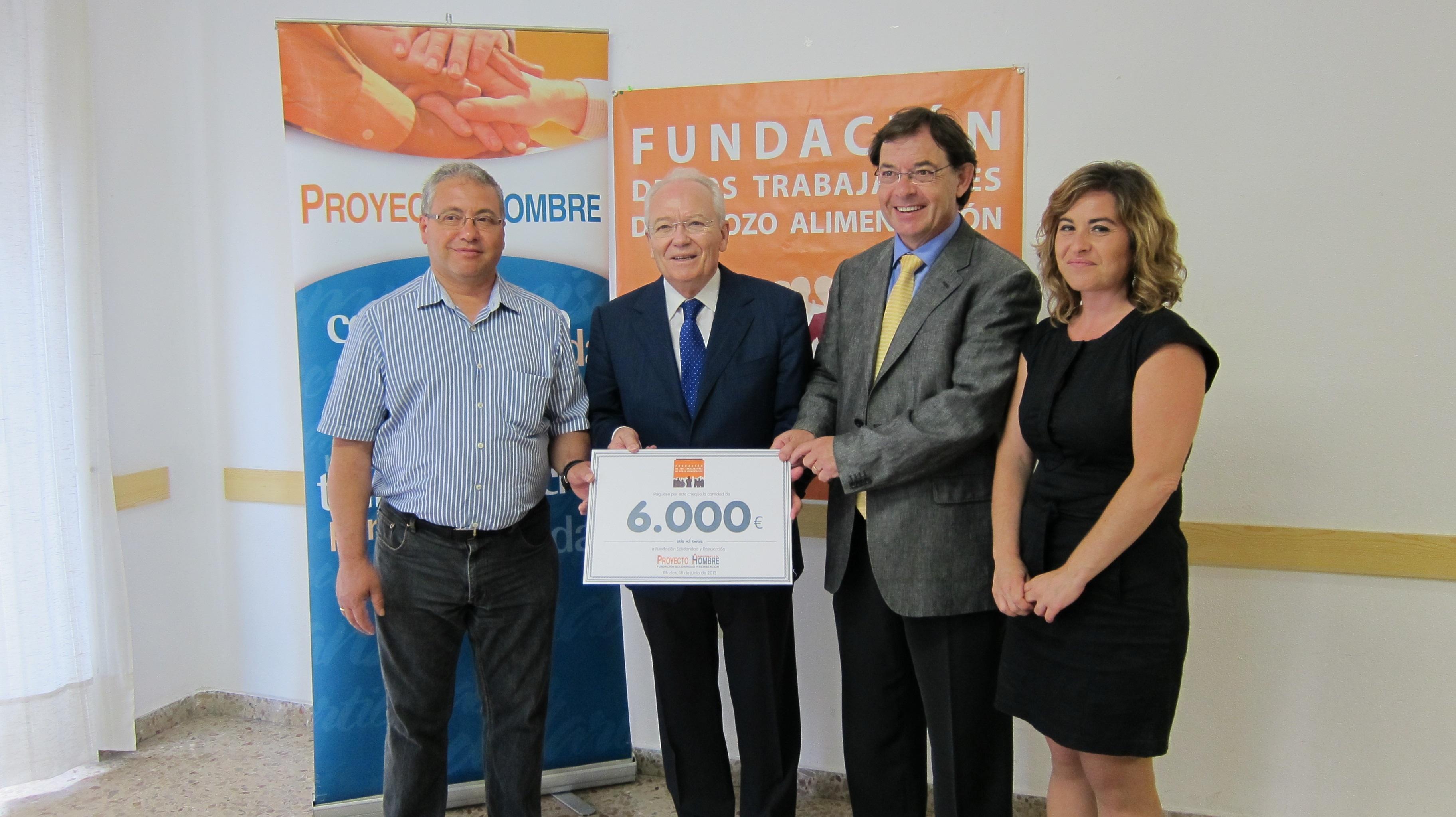 Fundación de Trabajadores de ElPozo Alimentación dona 6.000 euros a Proyecto Hombre para continuar con su apoyo a ONG