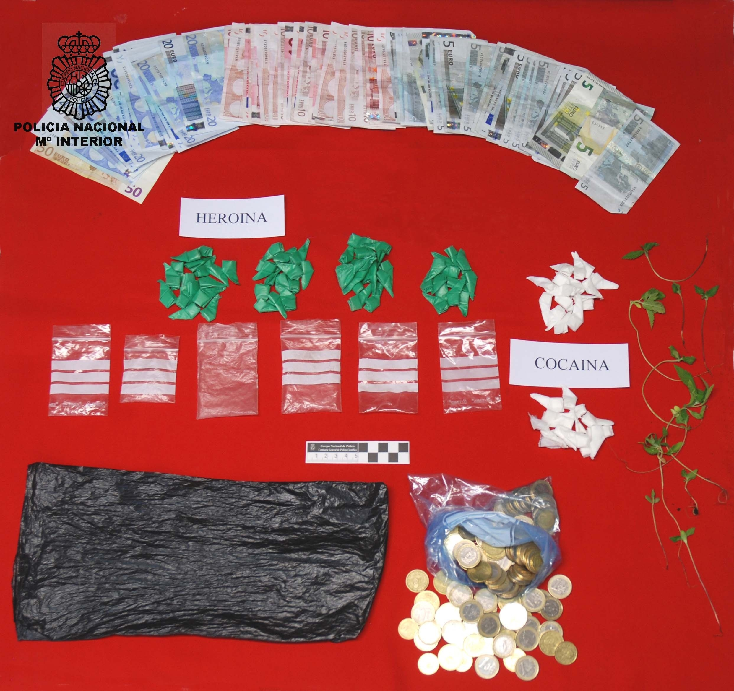 Cuatro detenidos, con un amplio historial delictivo, por vender cocaína y heroína en sus domicilios