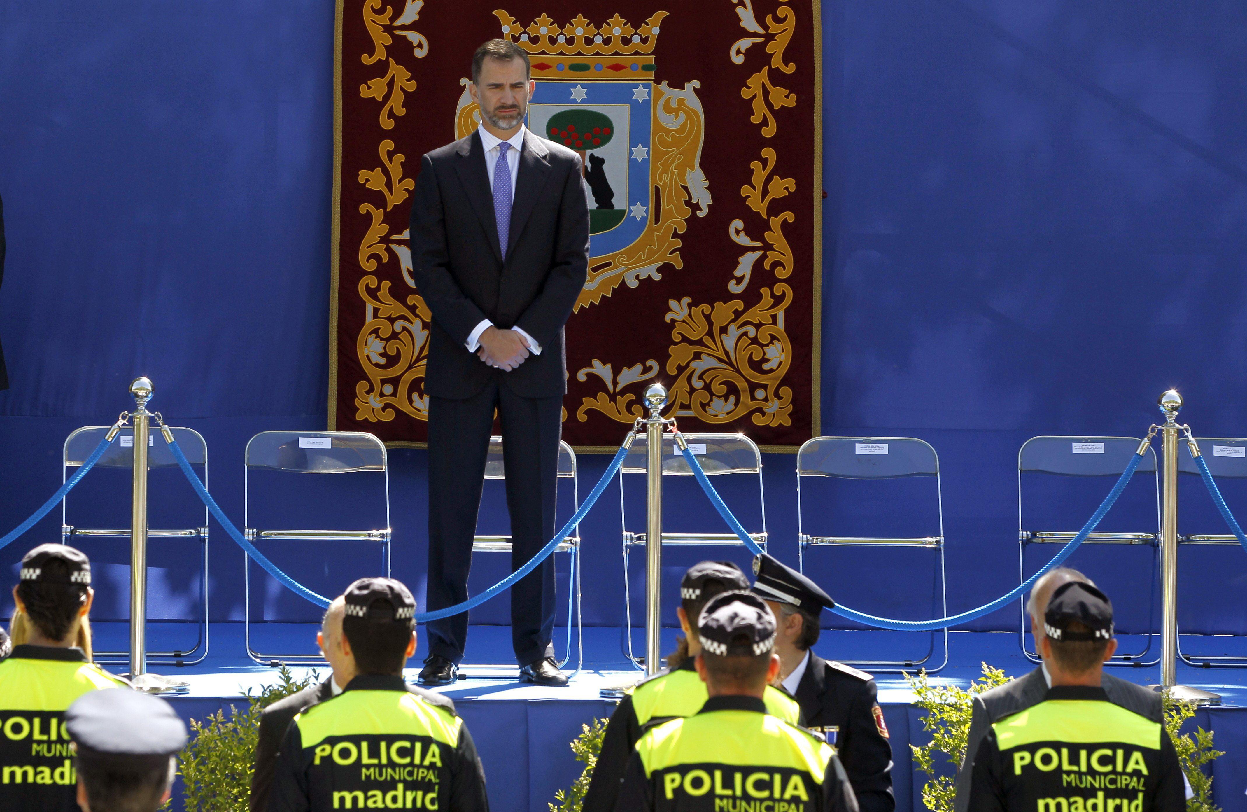 Don Felipe apuesta por Madrid 2020 en la fiesta de la Policía Municipal